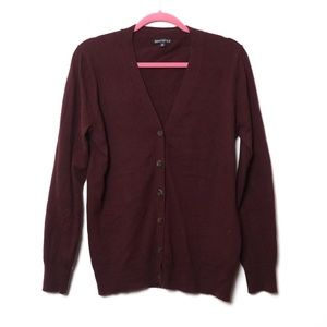 J Crew | Mercantile Maroon Button Cardigan M
